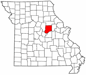 Missouri Map showing Callaway County