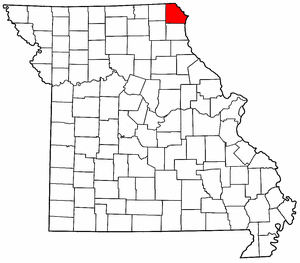 Missouri Map showing Clark County