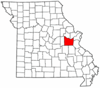 Missouri Map showing Franklin County