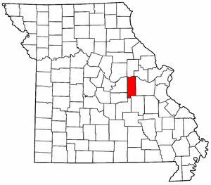 Missouri Map showing Gasconade County