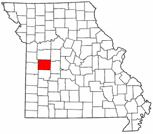 Missouri Map showing Henry County