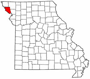 Missouri Map showing Holt County