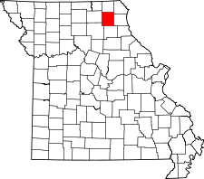 Missouri Map showing Knox County