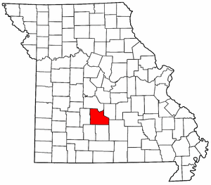 Missouri Map showing Laclede County