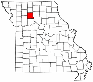 Missouri Map showing Livingston County