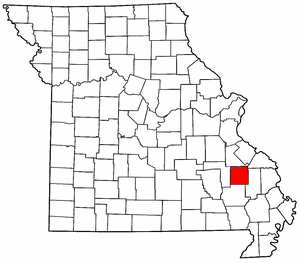 Missouri Map showing Madison County