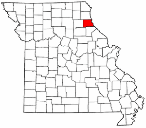 Missouri Map showing Marion County