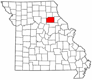 Missouri Map showing Monroe County