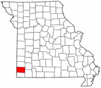 Missouri Map showing Newton County
