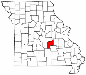Missouri Map showing Phelps County