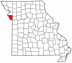 Missouri Map showing Platte County