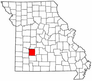 Missouri Map showing Polk County