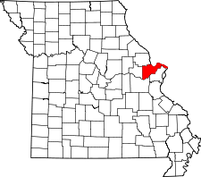 Missouri Map showing Saint Charles County