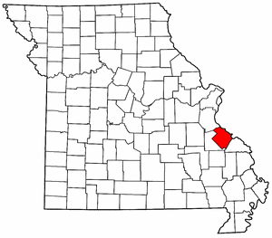 Missouri Map showing Sainte Genevieve County