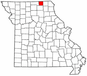 Missouri Map showing Schuyler County