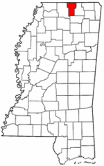 Mississippi Map showing Benton County