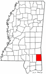 Mississippi Map showing Greene County