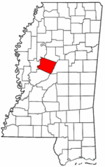 Mississippi Map showing Holmes County