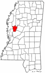 Mississippi Map showing Humphreys County