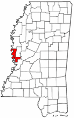 Mississippi Map showing Issaquena County
