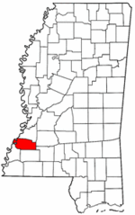 Mississippi Map showing Jefferson County