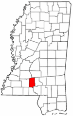 Mississippi Map showing Lawrence County