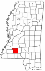 Mississippi Map showing Lincoln County