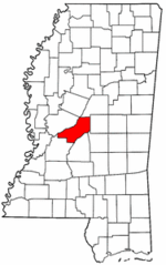 Mississippi Map showing Madison County