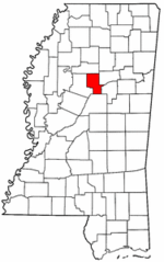 Mississippi Map showing Montgomery County