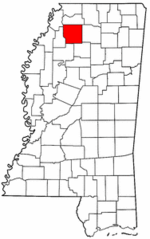 Mississippi Map showing Panola County