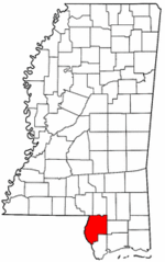 Mississippi Map showing Pearl River County
