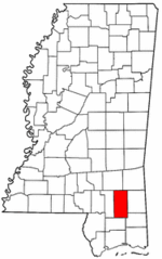 Mississippi Map showing Perry County