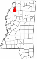 Mississippi Map showing Quitman County