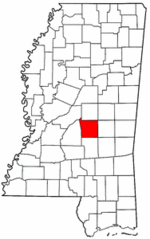 Mississippi Map showing Scott County