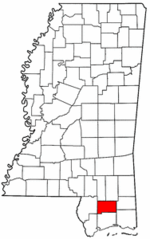 Mississippi Map showing Stone County