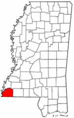 Mississippi Map showing Wilkinson County