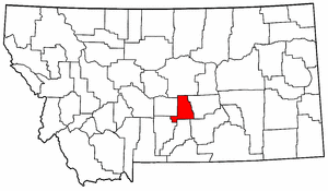 Montana Map showing Golden Valley County