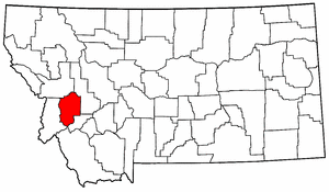 Montana Map showing Granite County