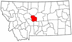 Montana Map showing Judith Basin County