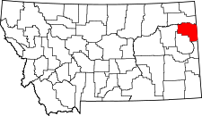 Montana Map showing Richland County