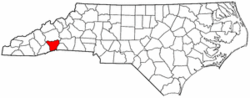 North Carolina Map showing Henderson County
