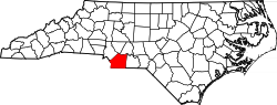 North Carolina Map showing Union County
