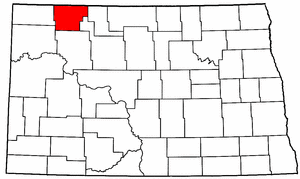 North Dakota Map showing Burke County