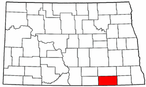 North Dakota Map showing Dickey County