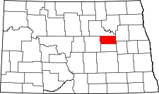 North Dakota Map showing Eddy County