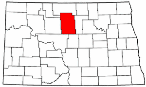North Dakota Map showing McHenry County