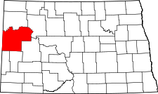 North Dakota Map showing McKenzie County