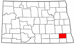 North Dakota Map showing Ransom County