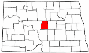 North Dakota Map showing Sheridan County