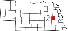 Nebraska Map showing Butler County